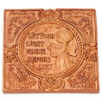 "Precious Moments® ""Let Your LIght Shine Before Men"" 4-Inch Square Wall Plaque"