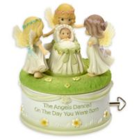 """Precious Moments® """"Angels Danced On The Day You Were Born"""" Music Box"""