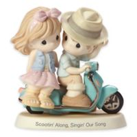 Precious Moments® Couple Riding Vespa Scooter Figurine