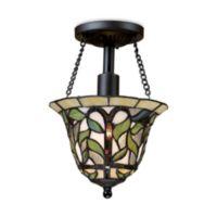 ELK Lighting Latham Semi-Flush Ceiling Light in Tiffany Bronze