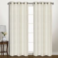Vintage 84-Inch Grommet Room Darkening Window Curtain Panel Pair in Ivory