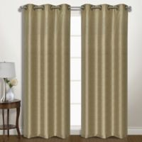 Vintage 63-Inch Grommet Room Darkening Window Curtain Panel Pair in Taupe