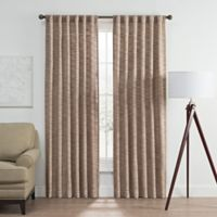 Vella 63-Inch Rod Pocket/Back Tab Room Darkening Window Curtain Panel in Berry