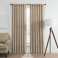 Vella 63-Inch Rod Pocket/Back Tab Room Darkening Window Curtain Panel in Natural