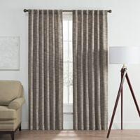 Vella 63-Inch Rod Pocket/Back Tab Room Darkening Window Curtain Panel in Charcoal