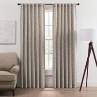 Vella 63-Inch Rod Pocket/Back Tab Room Darkening Window Curtain Panel in Stone