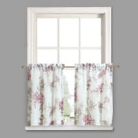Crushed Voile 24-Inch Rod Pocket Kitchen Curtain Tier Pair in Amethyst