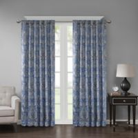 Georgia Print 84-Inch Room Darkening Grommet Window Curtain Panel in Blue