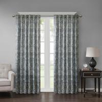 Georgia Print 84-Inch Room Darkening Grommet Window Curtain Panel in Grey