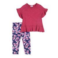 Splendid Kids Size 3-6M 2-Piece Flounce Sleeve Top and Floral Legging Set