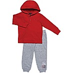 Tommy Hilfiger® Size 3-6M 2-Piece Thermal Henley Shirt and Pant Set in Red/Grey