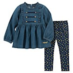 Tommy Hilfiger® Size 12M 2-Piece Chambray Top and Pant Set in Denim