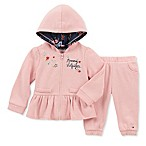 Tommy Hilfiger® Size 3-6M 2-Piece Floral Hoodie and Jogger Set in Pink