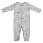 ED Ellen DeGeneres Newborn Words Print Footie in Grey