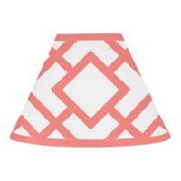 Sweet Jojo Designs Mod Diamond Lamp Shade in White/Coral