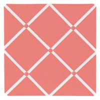 Sweet Jojo Designs Mod Diamond Fabric Memo Board in White/Coral