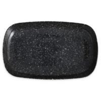 Camp 11-Inch Coupe Rectangular Melamine Platters in Charcoal (Set of 6)