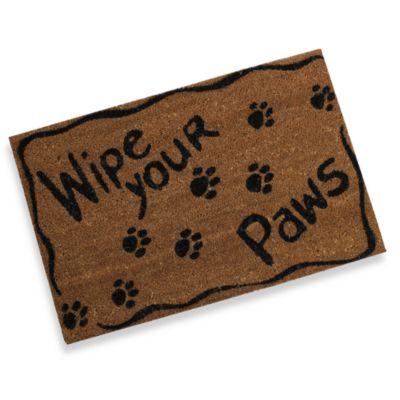 Delightful Wipe Your Paws Door Mat