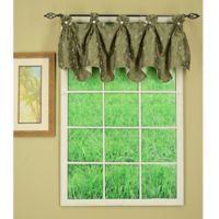 Madison Button Reversible Valance in Sage
