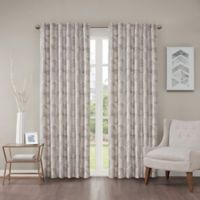 Regency Heights Cosma 63-Inch Rod Pocket/Back Tab Window Curtain Panel in Grey/Taupe