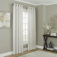 Chesterfield 108-Inch Grommet Room Darkening Window Curtain Panel in White