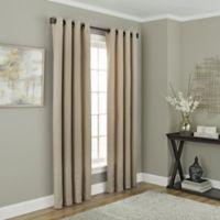 Chesterfield 108-Inch Grommet Room Darkening Window Curtain Panel in Linen