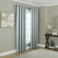 Chesterfield 108-Inch Grommet Room Darkening Window Curtain Panel in Blue