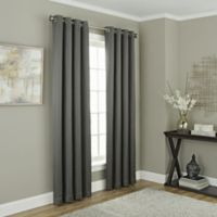 Chesterfield 95-Inch Grommet Room Darkening Window Curtain Panel in Charcoal