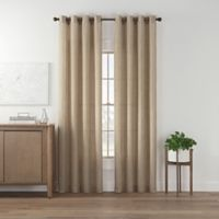 Maroc 63-Inch Grommet Top Window Curtain Panel in Linen