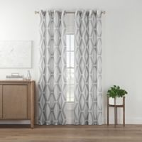 Marco Geo Sheer 63-Inch Grommet Top Window Curtain Panel in Grey