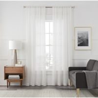 Arden Sheer 108-Inch Rod Pocket Window Curtain Panel in White