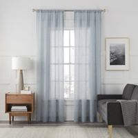 Arden Sheer 108-Inch Rod Pocket Window Curtain Panel in Blue Haze