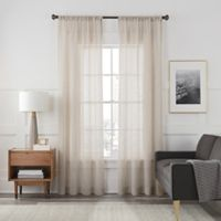Arden Sheer 108-Inch Rod Pocket Window Curtain Panel in Sand
