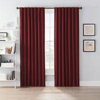 SmartBlock™ Chroma 95-Inch Rod Pocket 100% Blackout Window Curtain Panel in Merlot