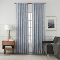 Arden Embroidery 95-Inch Rod Pocket/Back Tab Window Curtain Panel in Blue Haze