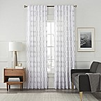 Arden Embroidery 84-Inch Rod Pocket/Back Tab Window Curtain Panel in White