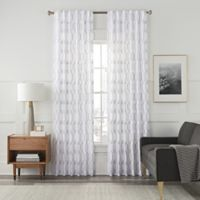 Arden Embroidery 95-Inch Rod Pocket/Back Tab Window Curtain Panel in White