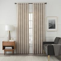 Arden Embroidery 95-Inch Rod Pocket/Back Tab Window Curtain Panel in Sand