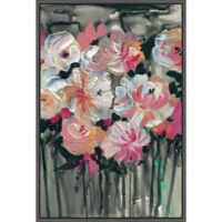 Marmont Hill Dancing Flowers 12-Inch x 18-Inch Framed Wall Art