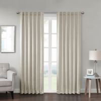 Georgia 63-Inch Rod Pocket/Back Tab Room Darkening Window Curtain Panel in Ivory
