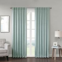 Georgia 63-Inch Rod Pocket/Back Tab Room Darkening Window Curtain Panel in Aqua