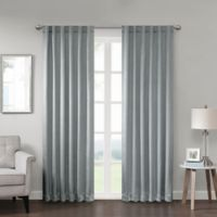 Georgia 84-Inch Rod Pocket/Back Tab Room Darkening Window Curtain Panel in Grey