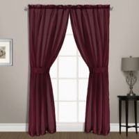 Summit Sheer Voile 45-Inch Rod Pocket Window Curtain Panel Pair in Burgundy