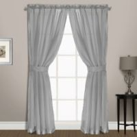 Summit Sheer Voile 72-Inch Rod Pocket Window Curtain Panel Pair in Silver