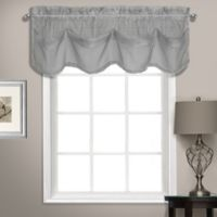 Summit Sheer Voile Tuck Window Valance in Silver