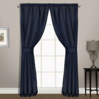 Summit Sheer Voile 54 Inch Rod Pocket Window Curtain Panel Pair In Navy