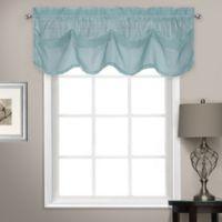 Summit Sheer Voile Tuck Window Valance in Light Blue