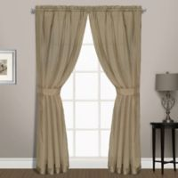 Summit Sheer Voile 72-Inch Rod Pocket Window Curtain Panel Pair in Mushroom