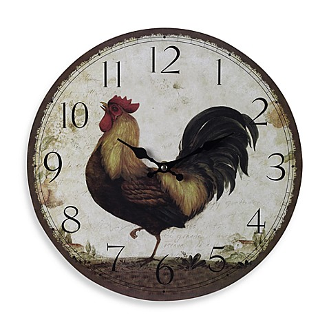 Large Rooster Wall Clock Bed Bath Amp Beyond