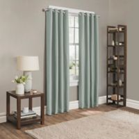 Sebastian 63-Inch Grommet Room Darkening Window Curtain Panel in Spa Blue